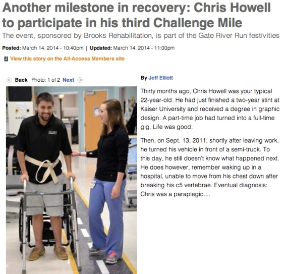 Article on Chris Howell on Jacksonville.com