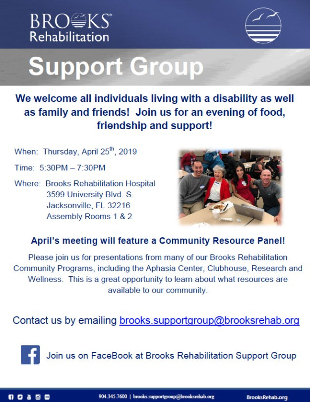 April Support Group