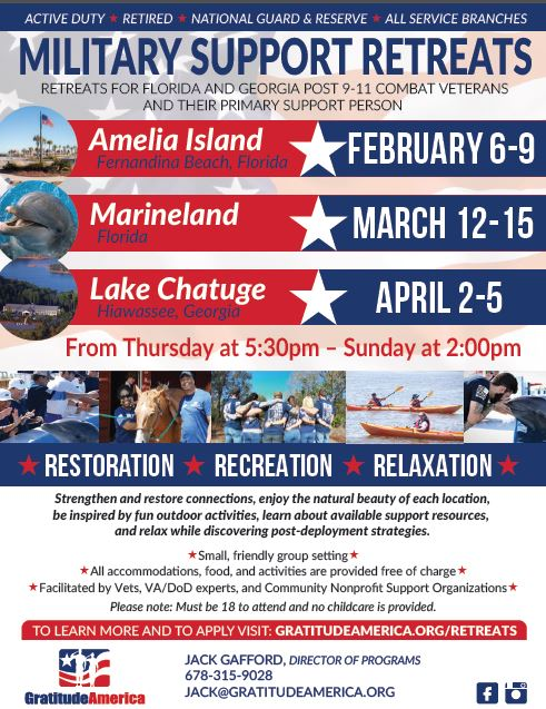 Military Support Retreats